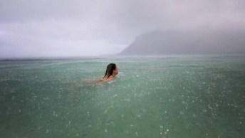 Nadando Sob A Chuva Uma Conexão Fantástica Com A Natureza!