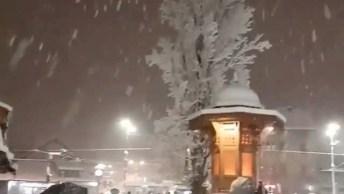 Neve Caindo Na Bósnia, Veja Que Lindas Imagens A Natureza É Maravilhosa!