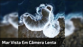 Onda Do Mar Vista De Cima E Em Câmera Lenta, Veja Que Incrível!