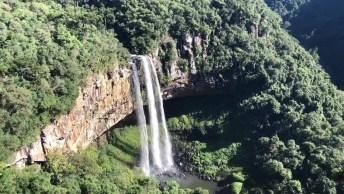 Parque Estadual Do Caracol, Veja Imagens Da Cascata Do Caracol Pela Manhã!