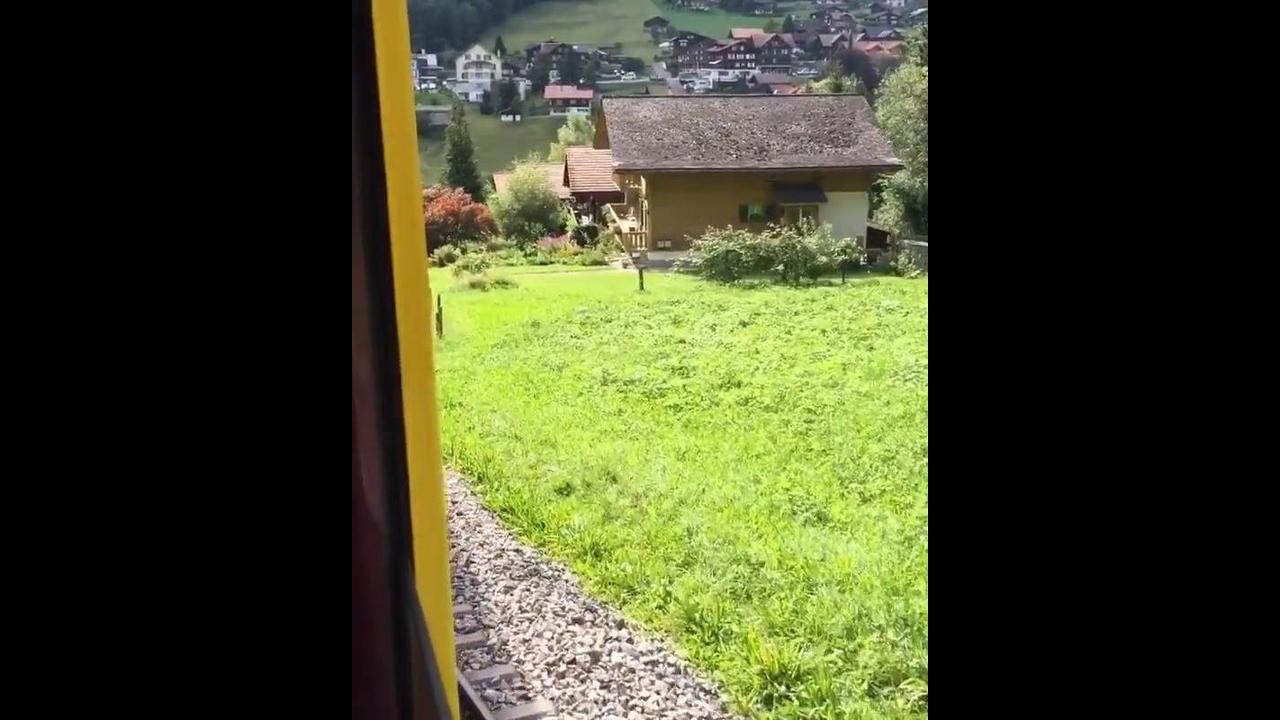 Passeando de trem pela Suíça