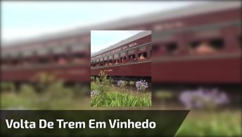 Passeio De Trem Em Vinhedo, Com Maria Fumaça Da Serra Gaúcha!