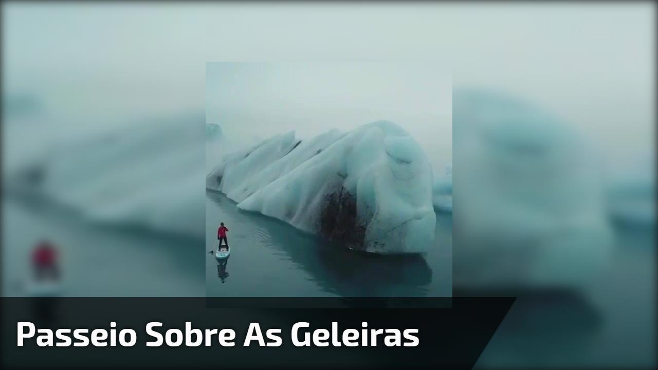 Passeio sobre as geleiras, veja que imagens impressionantes da natureza!!!