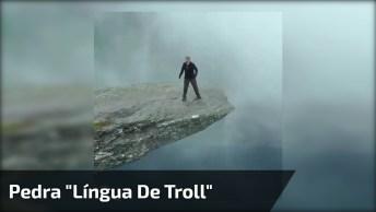 Pedra 'Língua De Troll' Com Uma Tempestade A Caminho Veja Que Incrível!