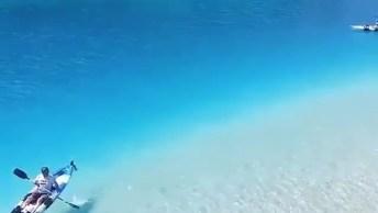 Praia Com Água Cristalina, Veja Como É Transparente E Azul!