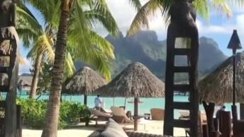 Praia Em Bora Bora, Um Belíssimo Lugar Para Passar As Férias!