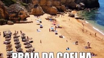 Praia Maravilhosa Em Portugal - Praia Da Coelha - Albufeira!