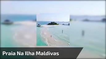 Praia Na Ilha Maldivas, Veja Que Lugar Espetacular, Impossível Não Se Encantar!