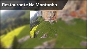 Restaurante Construído Sobre Aos Pés Da Montanha Dos Alpes Suíços!