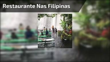 Restaurante Nas Filipinas Que Fica Dentro De Uma Cachoeira!