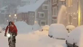 Tromso No Inverno, Olha Sói A Quantidade De Neve, Simplesmente Lindo!