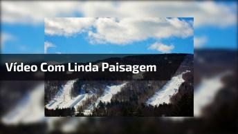 Vídeo Com Linda Paisagem Nas Montanhas, Olha Só Que Espetáculo!