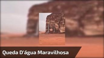 Vídeo Com Linda Queda D'Água E Arco-Íris, Uma Linda Imagem!