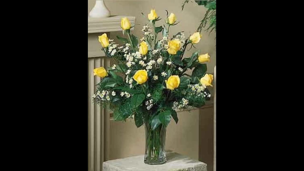 Vídeo com lindas flores amarelas