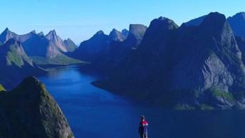 Vídeo Com Trilha Nas Alturas, Veja Que Lugar Maravilhoso, E Alto!