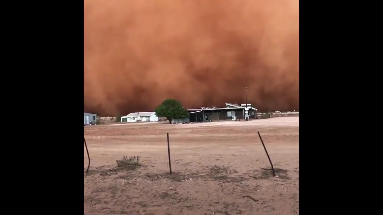 Vídeo mostra tempestade de areia na Austrália, veja que assustador!!!