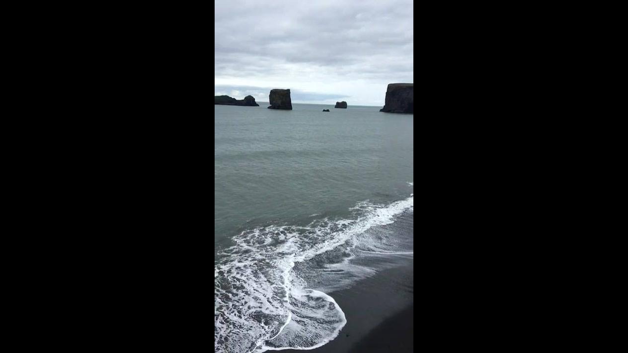 Vídeo mostrando as ondas do mar