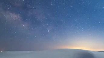 Vídeo Mostrando Céu A Noite E Ao Amanhecer, A Natureza É Espetacular!