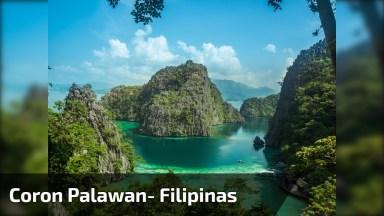 Vídeo Mostrando Coron Palawan Um Lugar Maravilhoso Nas Filipinas!