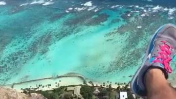 Vídeo Mostrando Hawaii Do Alto De Uma Montanha, A Natureza É Maravilhosa!