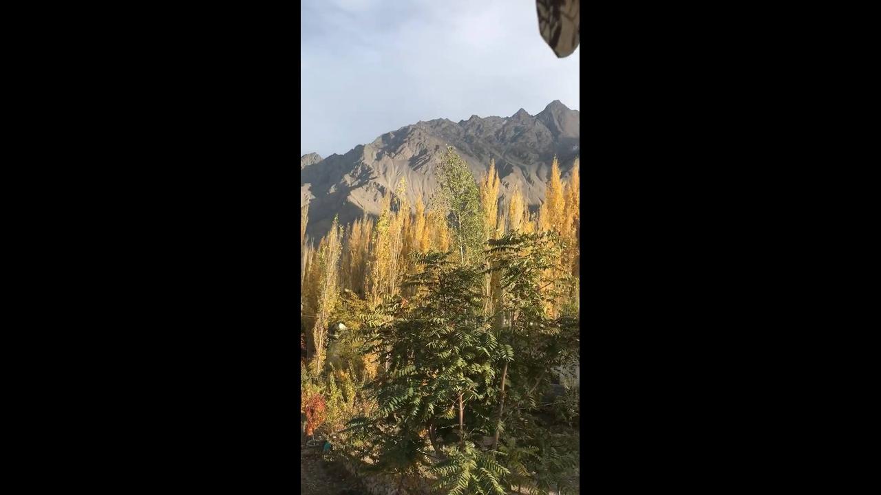 Vídeo mostrando lindo lugar em Skardu