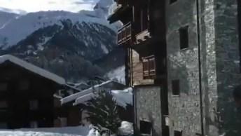 Vídeo Mostrando Lindos Alpes Suíços No Inverno, Simplesmente Maravilhoso!
