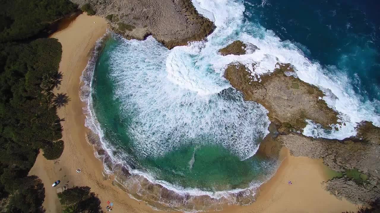 Vídeo mostrando Mar Chiquita