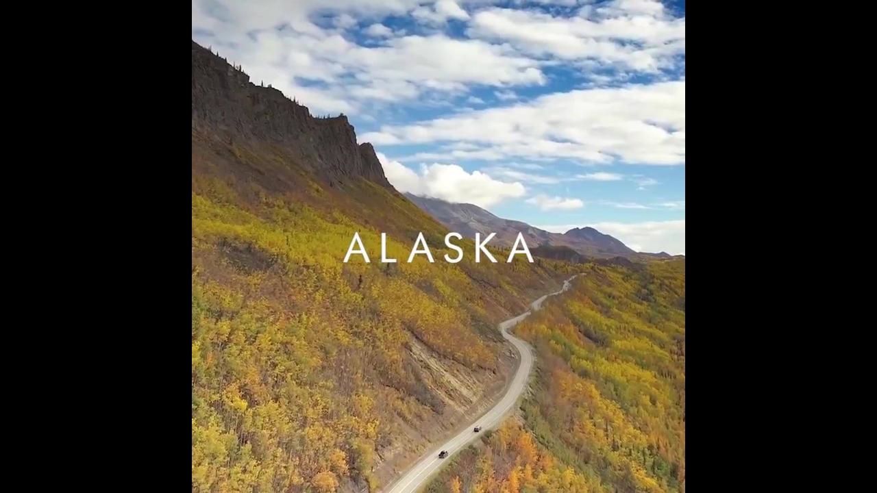 Vídeo mostrando pedacinho das belezas do Alasca