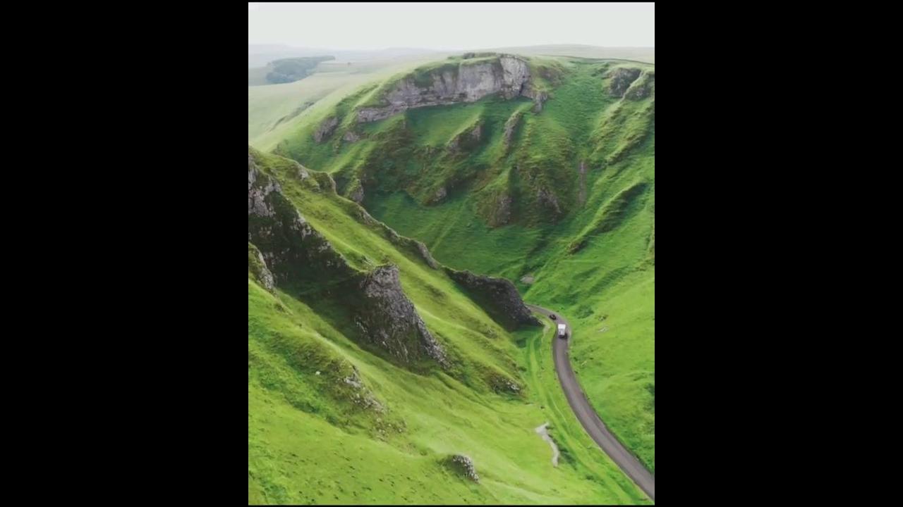 Vídeo mostrando pedacinho de Winnats Pass um lugar magico na Inglaterra