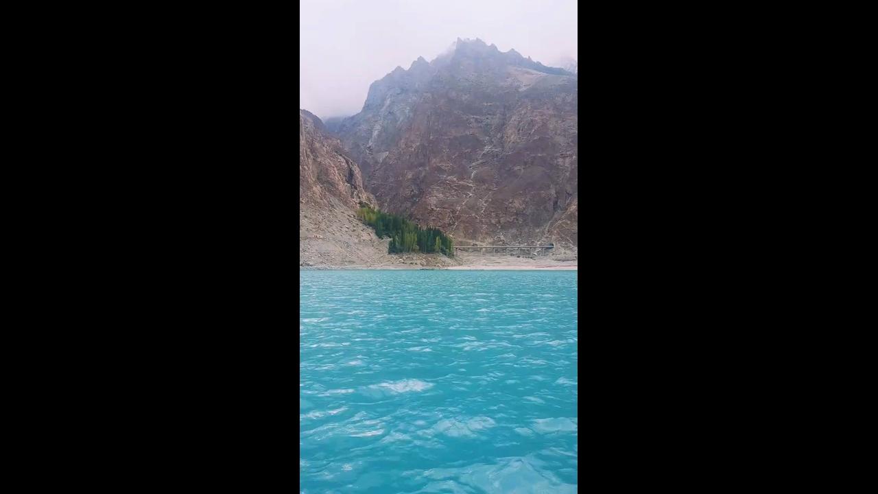 Vídeo mostrando pedacinho do Lago Hunza no Paquistão