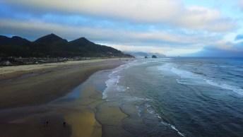 Vídeo Mostrando Praia Linda Em Oregon, Veja Que Belíssimas Paisagens Naturais!