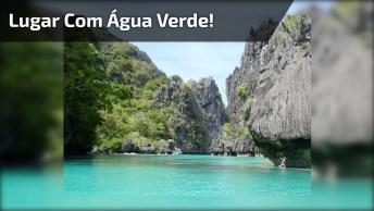 Vídeo Mostrando Um Lugar Cheio De Natureza Com Água Verde Esmeralda!