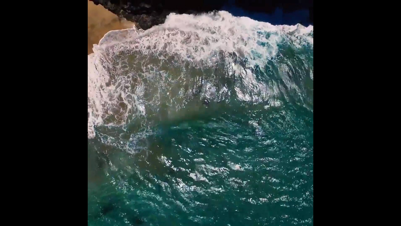 Vídeo mostrando um pedacinho do paraíso natural do Hawaii