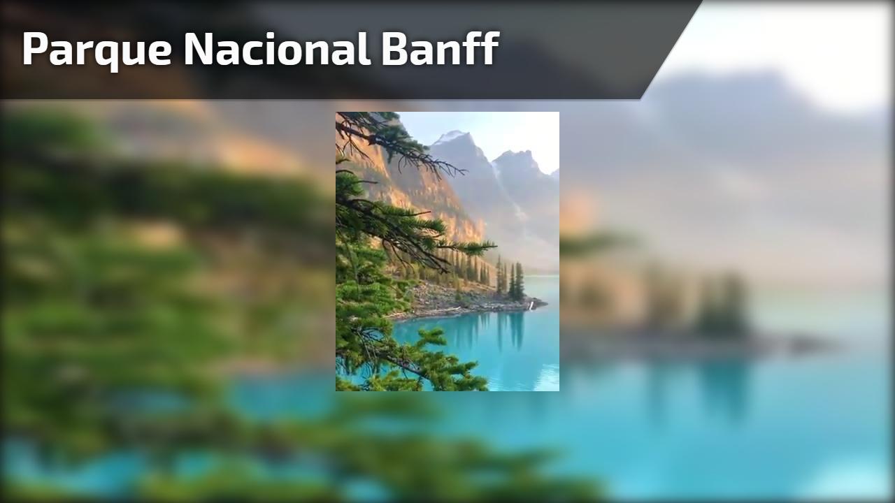 Vídeo mostrando um pedacinho do Parque Nacional Banff que fica no Canadá!!!