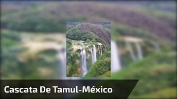 Vídeo Mostrando Um Pouquinho Da Cascata De Tamul No México, Veja Que Linda!