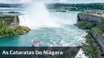Vídeo Mostrando Um Pouquinho Das Cataratas Do Niagara, Veja Que Lugar Lindo!