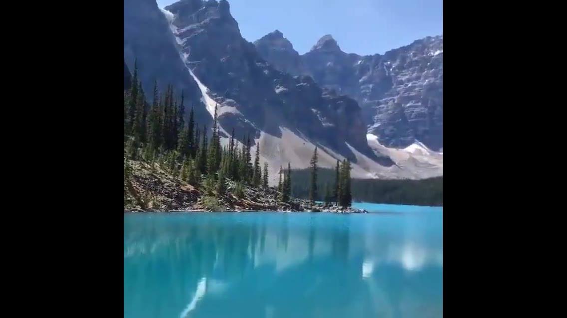 Vídeo mostrando uma paisagem que parece um quadro de tão surreal!!!