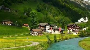 Vídeo Mostrando Uma Vila Na Suíça, Veja Que Lugar Maravilhoso!