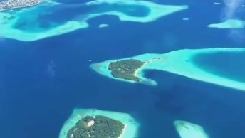 Voo Sobre As Ilhas Maldivas, Um Paraíso Na Terra, Muito Lindo Este Lugar!