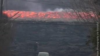 Vulcão Kilauea No Hawaii Entrou Em Erupção, Veja O Rio De Lava!