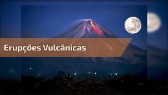 Vulcões Em Erupção Derrubando Lava No Mar, Sem Palavras Para Este Vídeo!