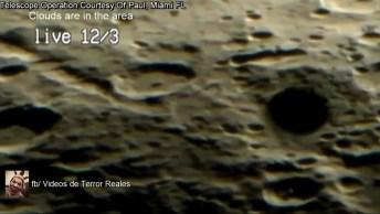 Amigos Filmam A Lua Ao Vivo Com Um Bom Telescópio, E Algo Estranho Aparece!