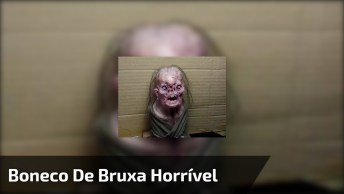 Boneco De Bruxa Aterrorizante, Ótimo Para Assustar Os Amigos E Amigas!