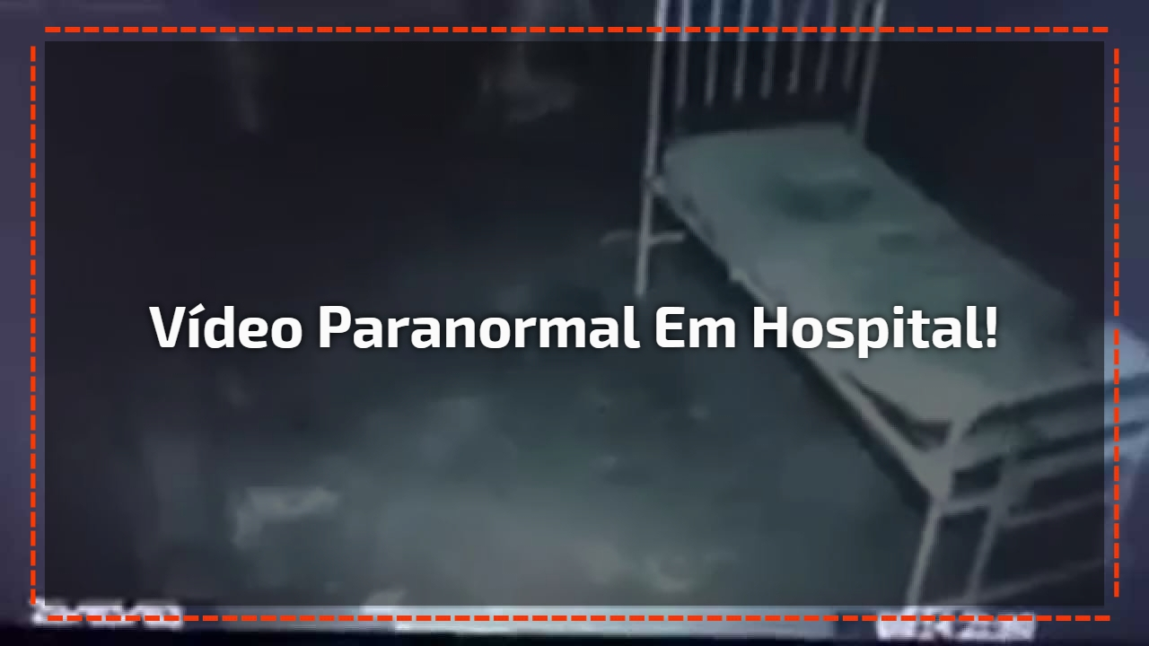 Vídeo paranormal em hospital!