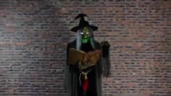 Com A Chegada Do Halloween Veja Só Esta Bruxa Fantástica, Muito Legal!