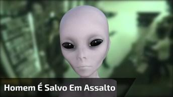 Homem É Salvo Em Assalto Por Suposto Alienígena, Vejas As Imagens!
