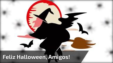 Vídeo De Feliz Halloween Para Amigos! Tenha Um Feliz Dia Das Bruxas!