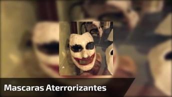 Vídeo Mostrando Mascaras Aterrorizantes De Para Você Usar No Halloween!