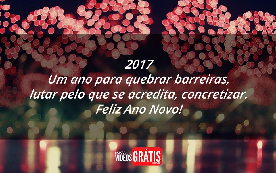 Imagem de feliz 2017, com uma bela mensagem para desejar feliz ano novo