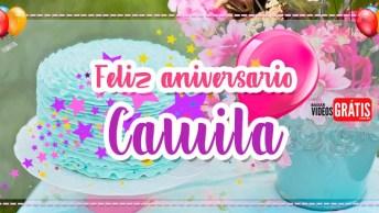 Feliz Aniversario Camila - Mensagem Personalizada Grátis!